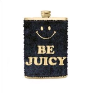 Juicy Couture flask black furry gold gift box 🎁
